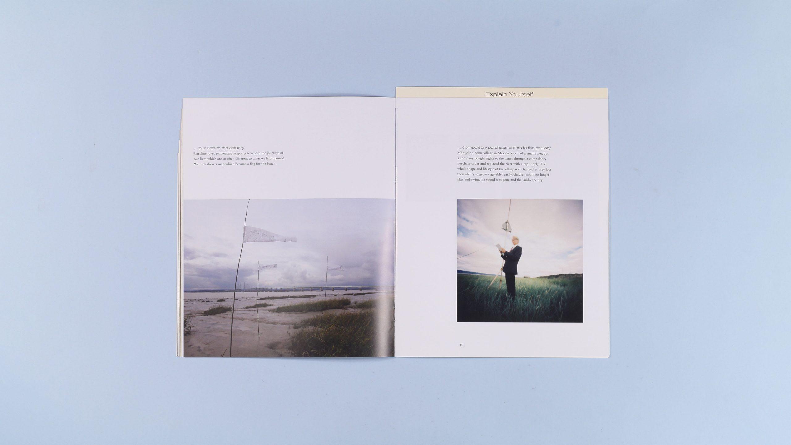 Explain Yourself publication inside spread. Publication designed by City Edition Studio.